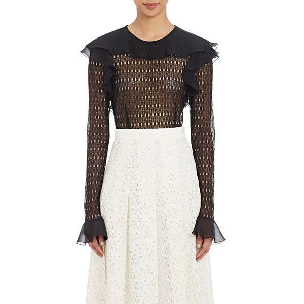 Philosophy di Lorenzo Serafini Women's Circular-Lace Blouse Size ($590) ❤  liked on