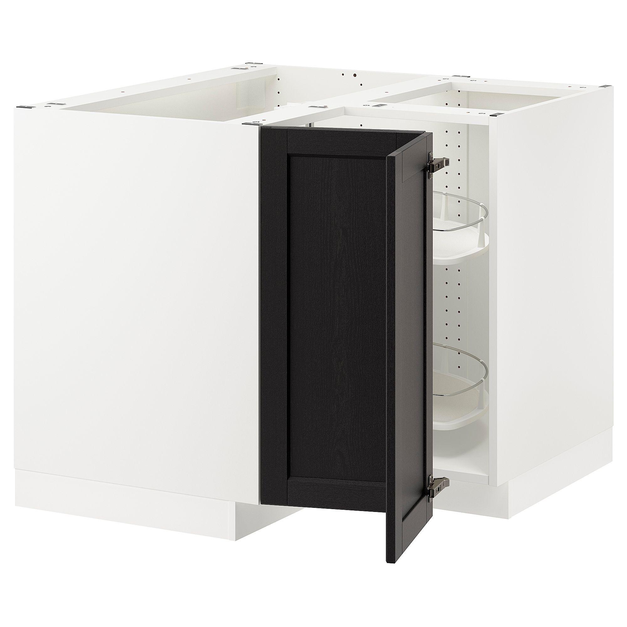 Best Ikea Sektion White Corner Base Cabinet With Carousel 400 x 300