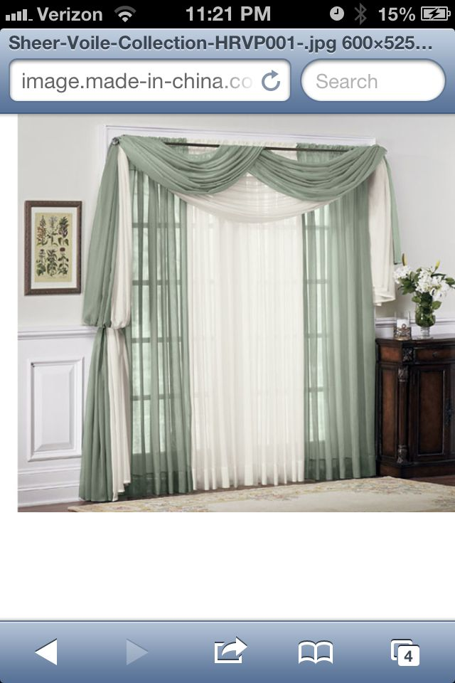 Sheer curtain idea curtains and tie backs pinterest for Front door curtain ideas