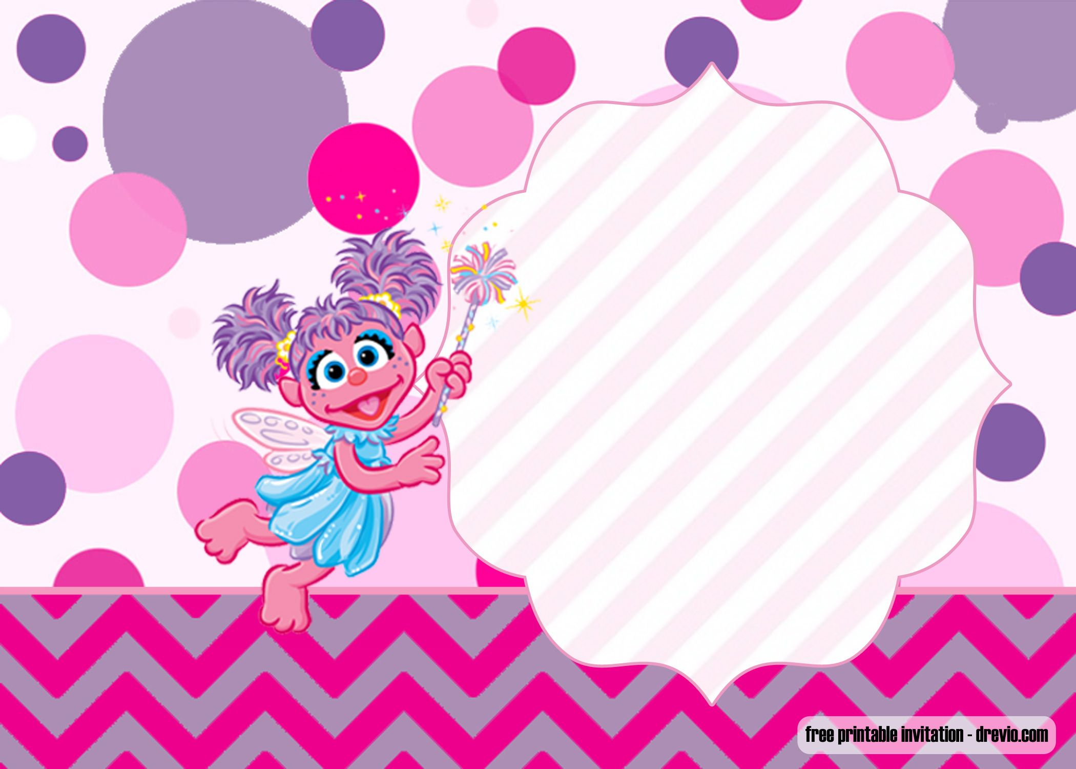 Free Printable Abby Cadabby Invitation Templates Free