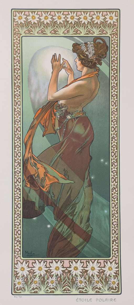 North Star by Alphonse Alfons Mucha Art Nouveau Deco Picture Poster Print NEW
