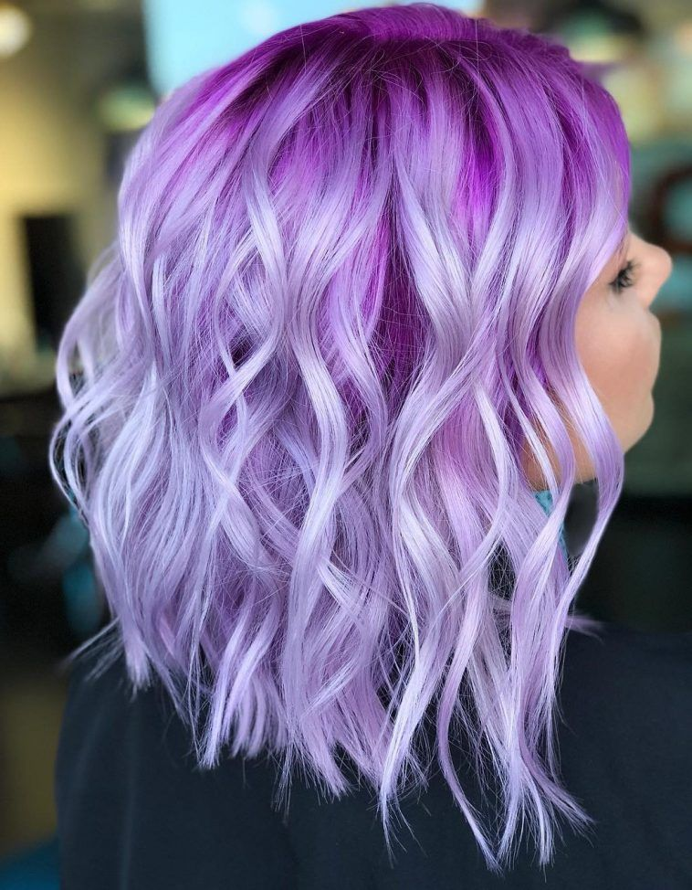24++ Light purple dyed hair trends