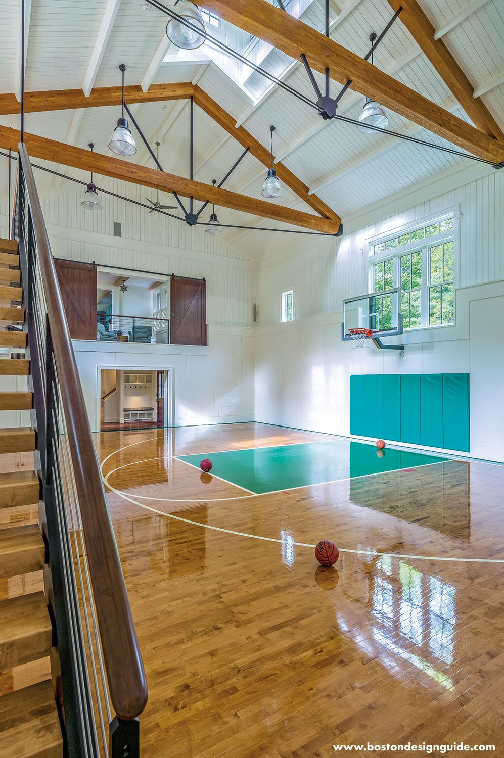 Best Barn Transforms Into Home Basketball Court Home Basketball Court Basketball Room Home Gym 400 x 300
