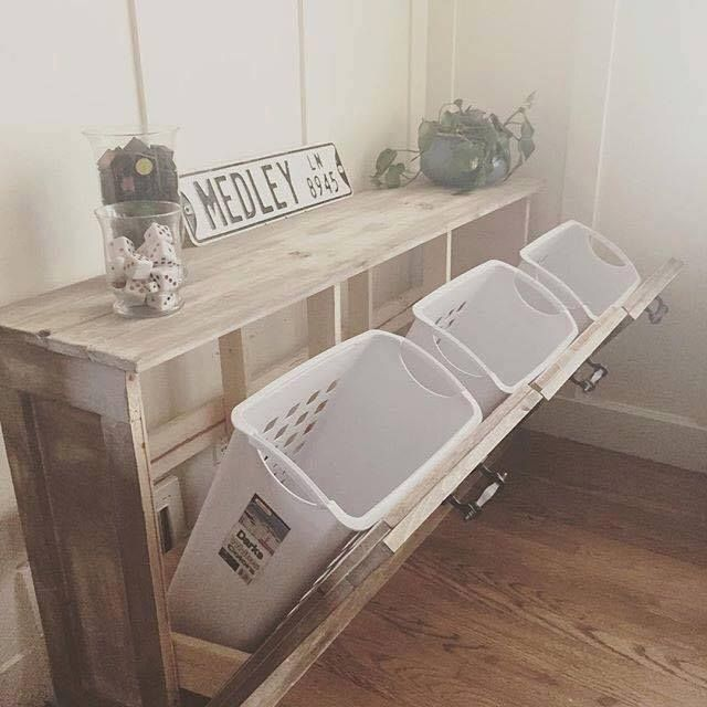 Chic way to have a recycling bins in the house in a stylish ...