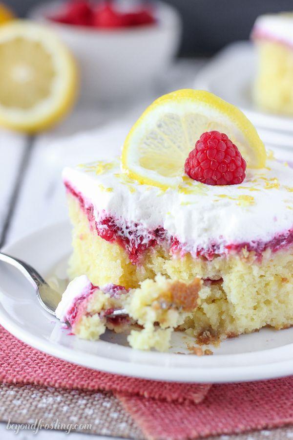 Lemon Raspberry Poke Cake Beyond Frosting Lemon Cake Recipe Easy Lemon Cake Recipe Lemon Cake Easy