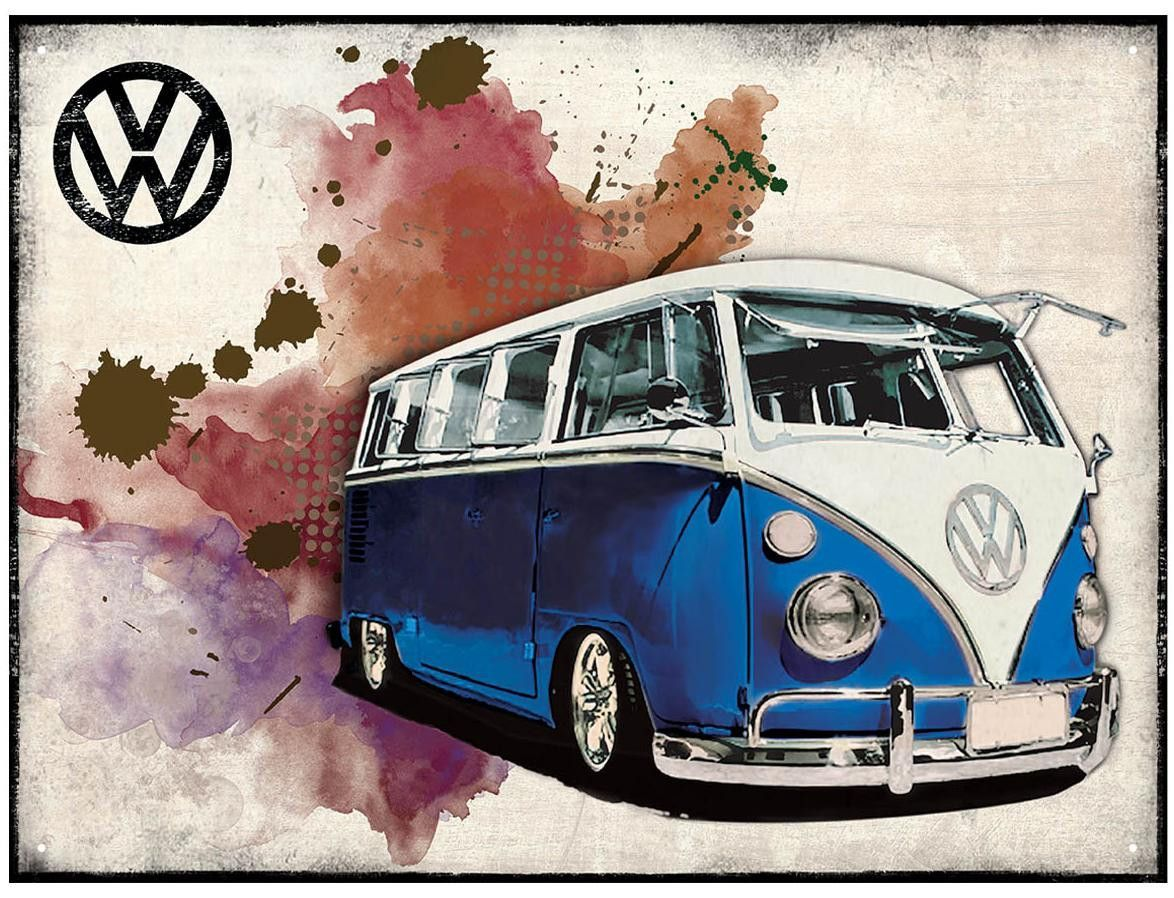 Kombi Bug Bus Car Retro Metal Sign
