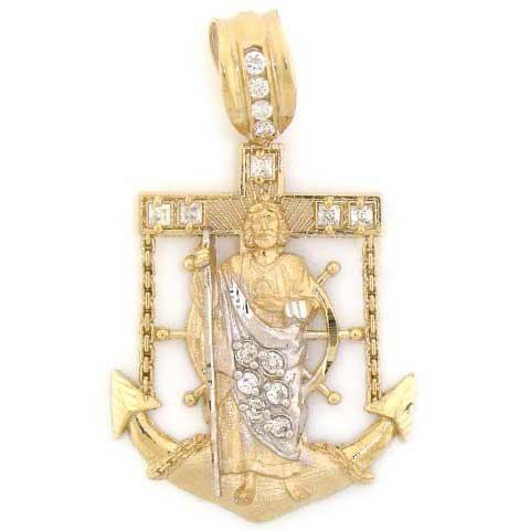 10k Solid Yellow Gold Cross Anchor Saint Charm Pendant Jewelry Liquidation 322 92 Made In Usa Made With Real 10k Pendant Jewelry Gold Cross Charm Pendant