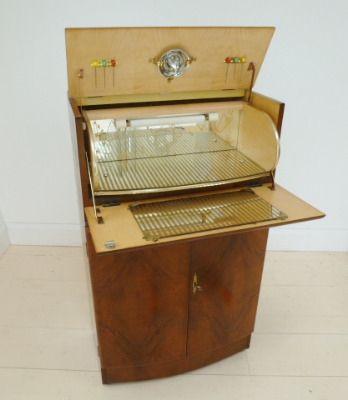 1940s home bar   1940s cocktail cabinet   vintage home bar ...