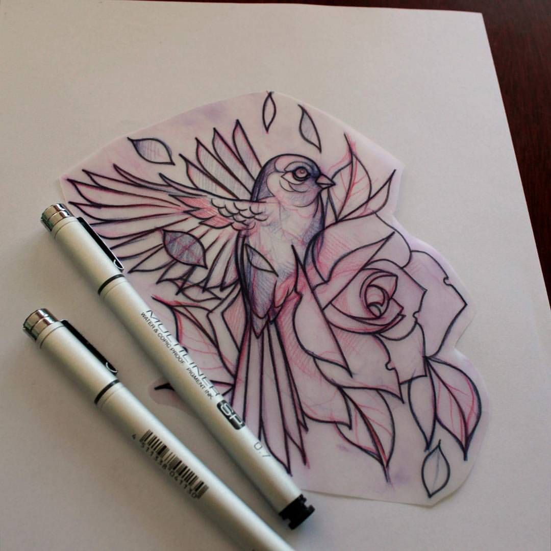 Neotraditional Tattoos Google Search Bird Tattoo Neck Bird Tattoo Sleeves Birds Tattoo