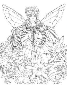 free detailed faerie coloring pages - photo#33