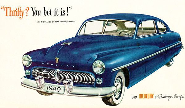 1950 Mercury Coupe American Classics Kunstdruck
