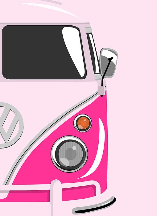 a541f427304b Camper Pink 2 Canvas Print / Canvas Art by Michael Tompsett in 2019 ...