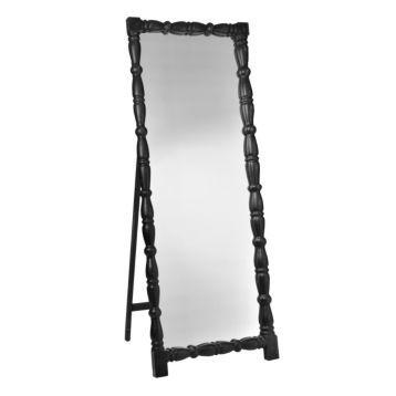 Black Wood Carey Full Length Floor Mirror (With images ... on Floor Mirrors Decorative Kirklands id=19434