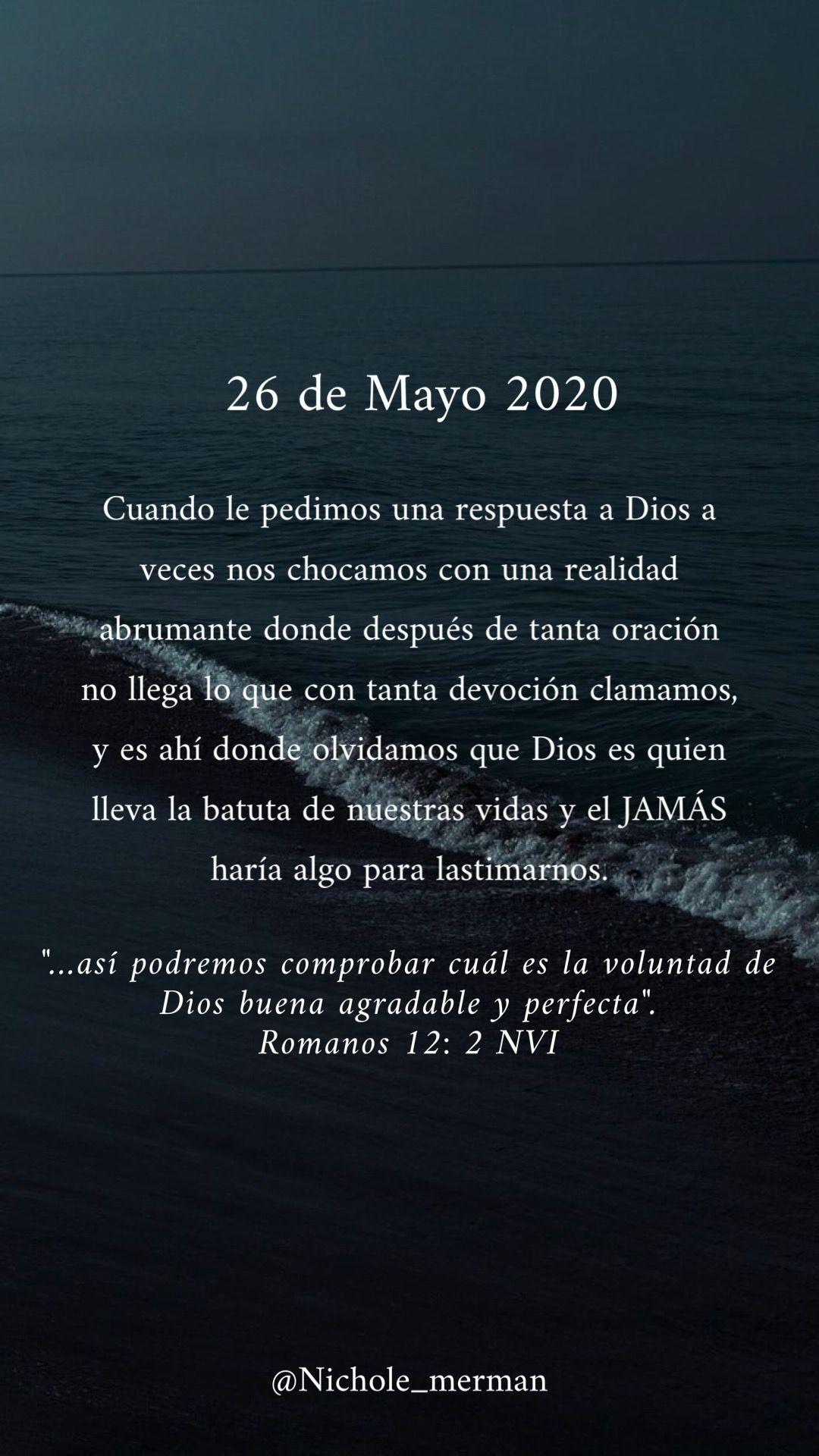 26 Mayo 2020 Romanos 12 2 Romanos 12 Dios