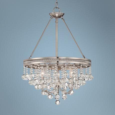 brushed nickel crystal chandeliers | Regina Brushed Nickel 19