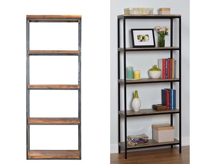 Ikea Hack Wood And Metal Bookshelf Metal Bookcase Metal