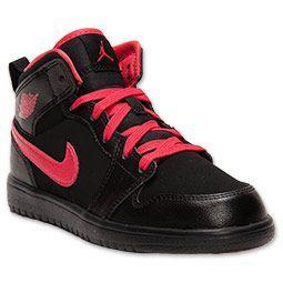 another chance 37aae 5e465 Girls  Preschool Air Jordan Retro 1 Mid Flex Basketball Shoes    FinishLine.com   Black Fusion Red- FOR LEAH