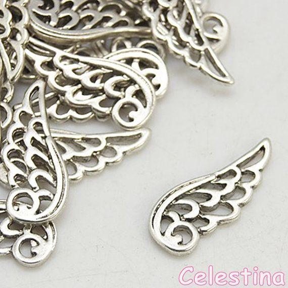 10 x Tibetan Silver FILIGREE BUTTERFLY 20mm Charms Pendants Beads