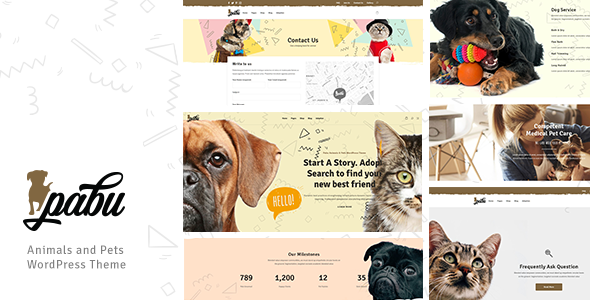 Pabu Animals And Pets Wordpress Theme Columns4 Adopt Adoption Animal Animal Shelters Color Pr Pet Clinic Wordpress Theme Animals Pets