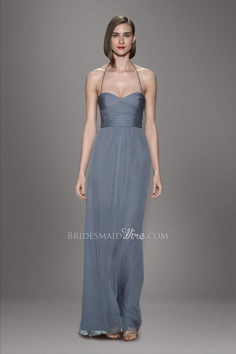 Dark gray halter pleated bodice sweetheart neckline slim a find this pin and more on halter bridesmaid dresses by kraju3010 ombrellifo Choice Image