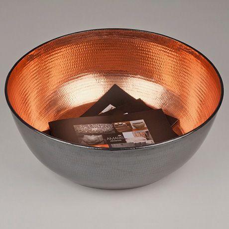 Amaris Elements theo bowl large by amaris elements monoqi copper copper