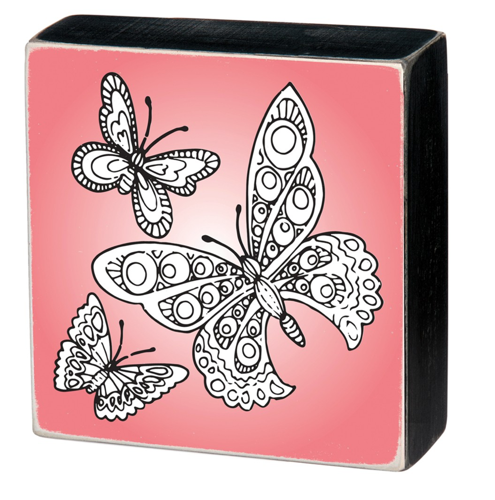 Color it Yourself Mini Butterfly Wall Decor Box Sign (With ...