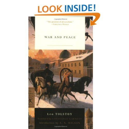 Amazon.com: War and Peace (Modern Library Classics) (9780345472403): Leo Tolstoy, Constance Garnett, A.N. Wilson: Books