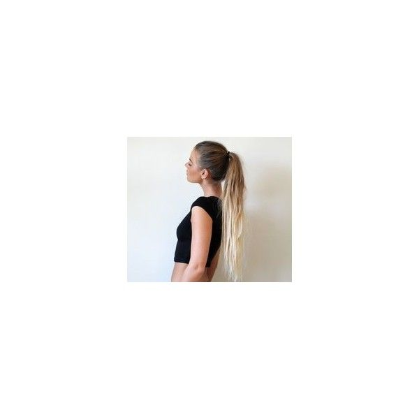 DIY Jennifer Aniston Messy Ponytail Video ❤ liked on Polyvore featuring accessories