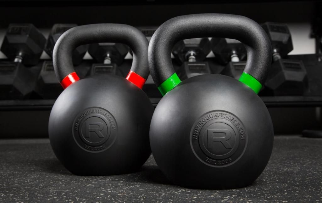 Rogue rubber coated kettlebell garage gym kettlebell rogue