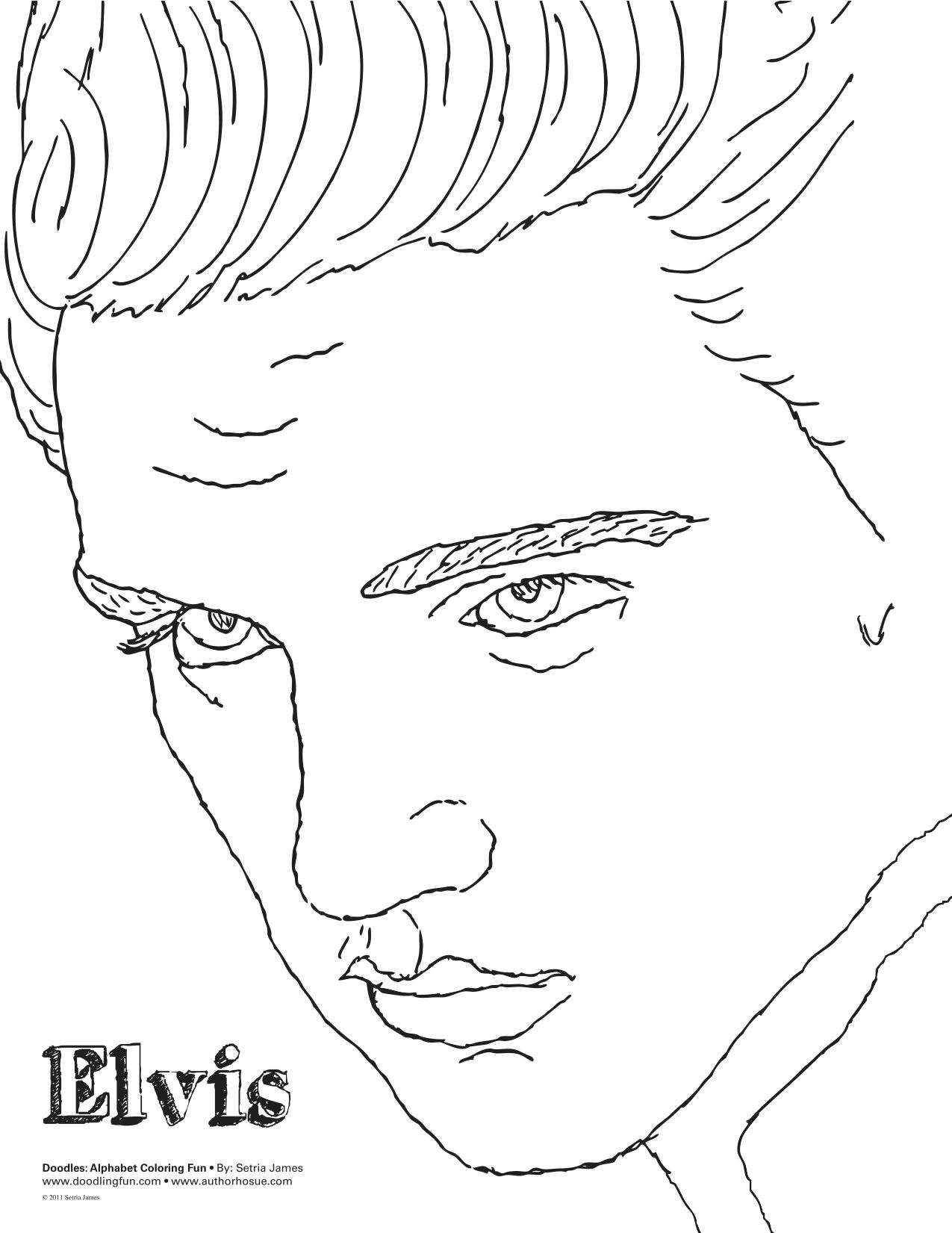 elvis template elvis coloring pages