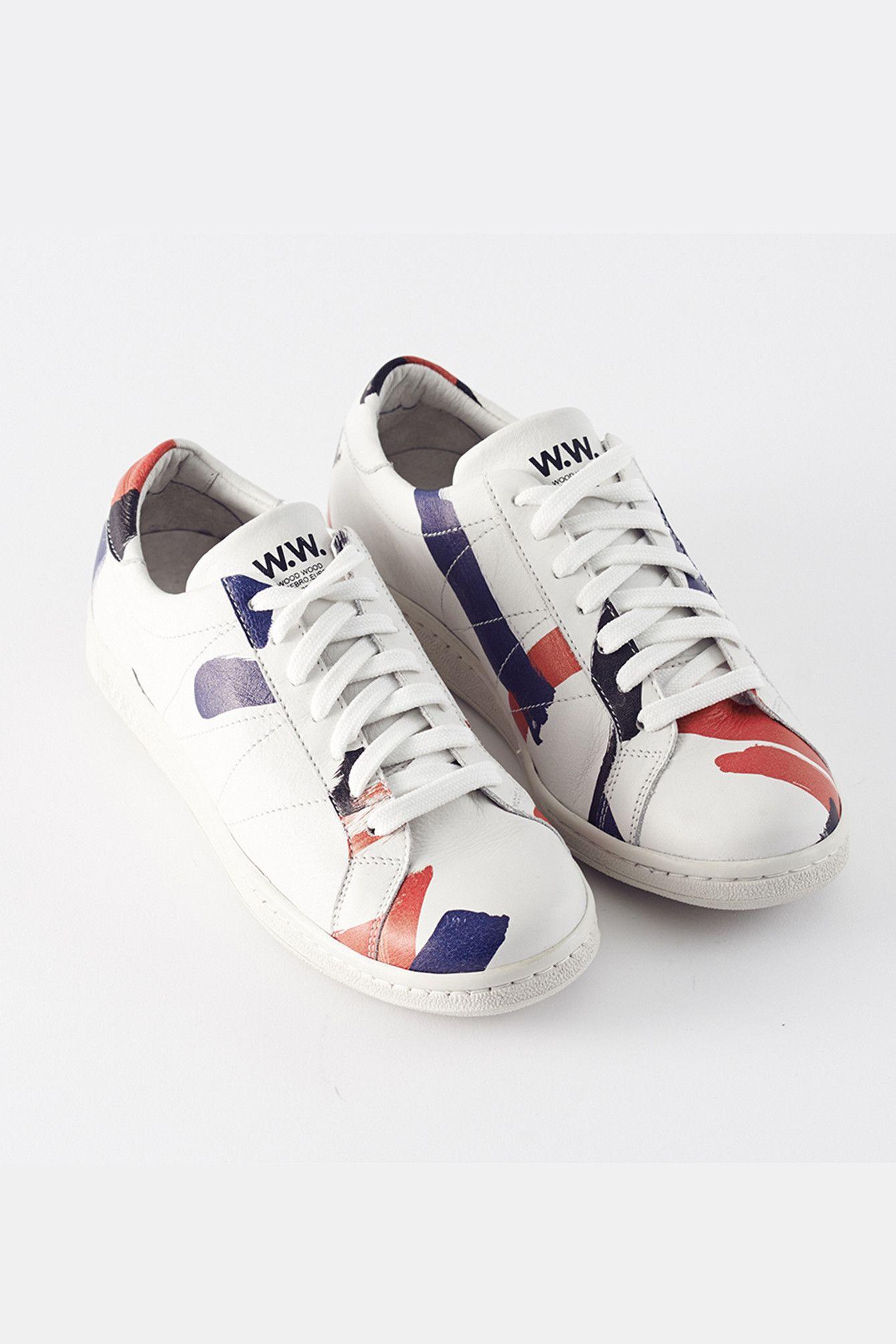 Wood Wood Bo Shoe Sneakers White Paint
