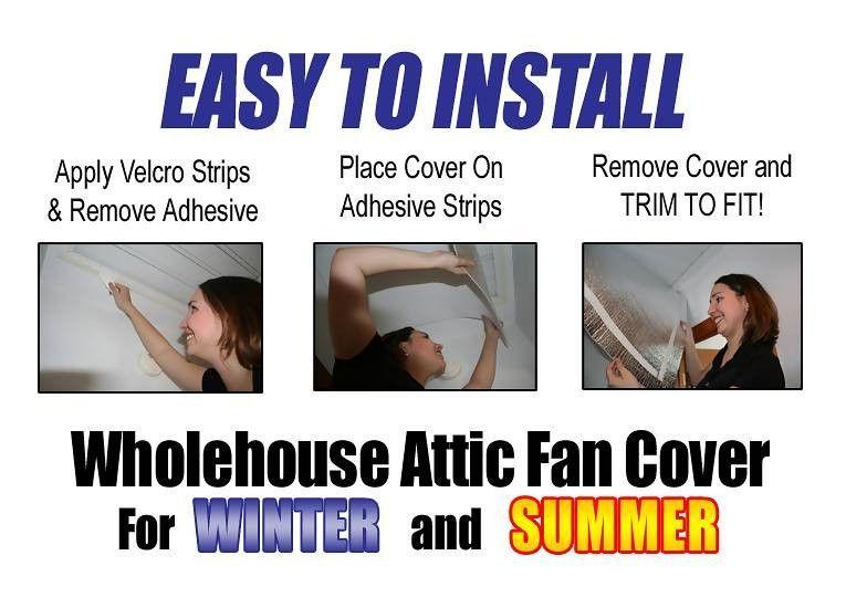 Whole House Attic Fan Insulation Shutter Seal 3x4 Ft Trim It To Fit Attic Fan House Attic Fan Basement Ceiling Ideas Cheap