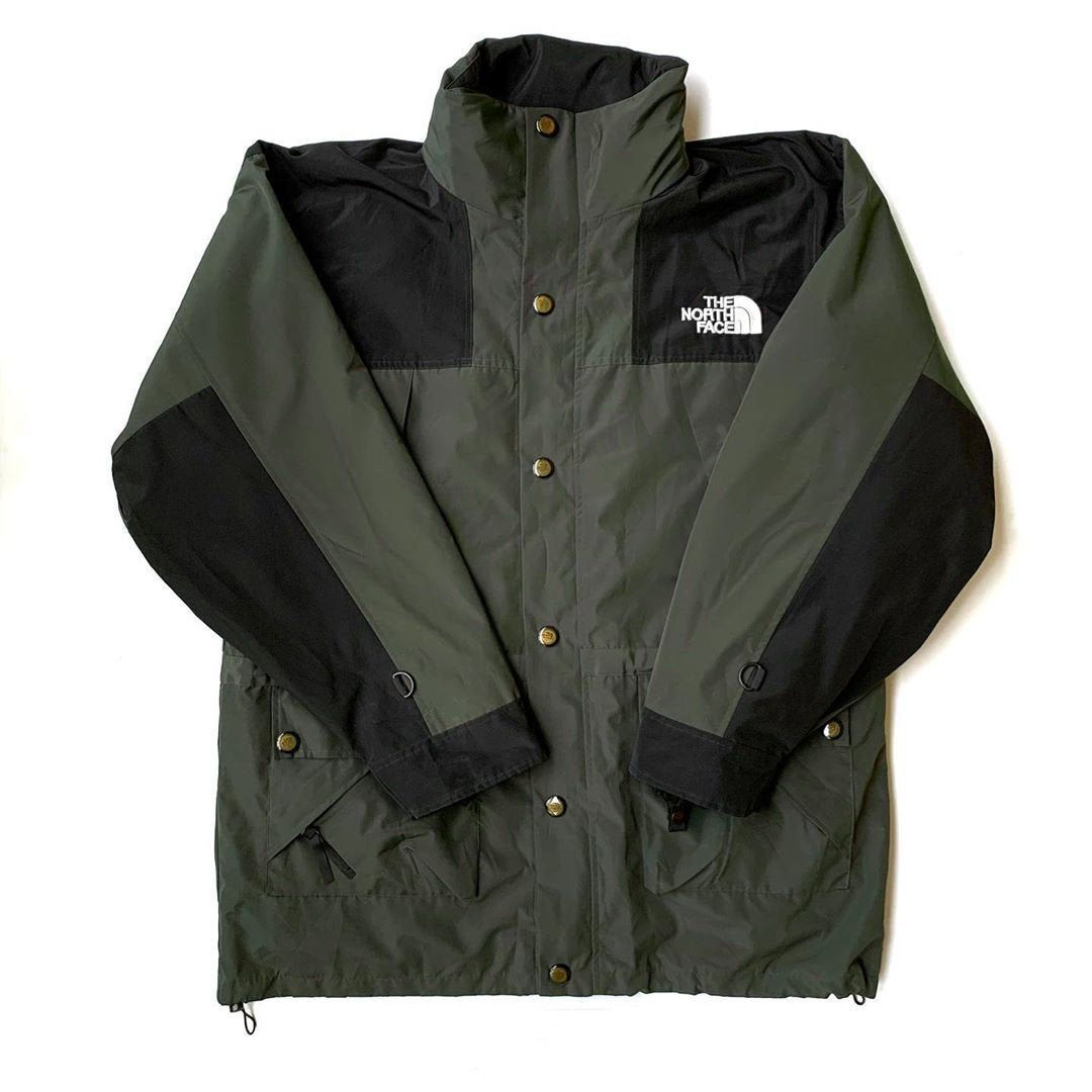Vintage The North Face Gore Tex Parka Jacket Green Black Size M North Face Fleece Jacket Fleece Jacket Parka Jacket [ 1080 x 1080 Pixel ]