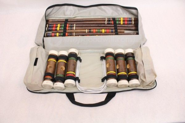 shopgoodwill.com: Franklin Lawn Game Collection Croquet Set