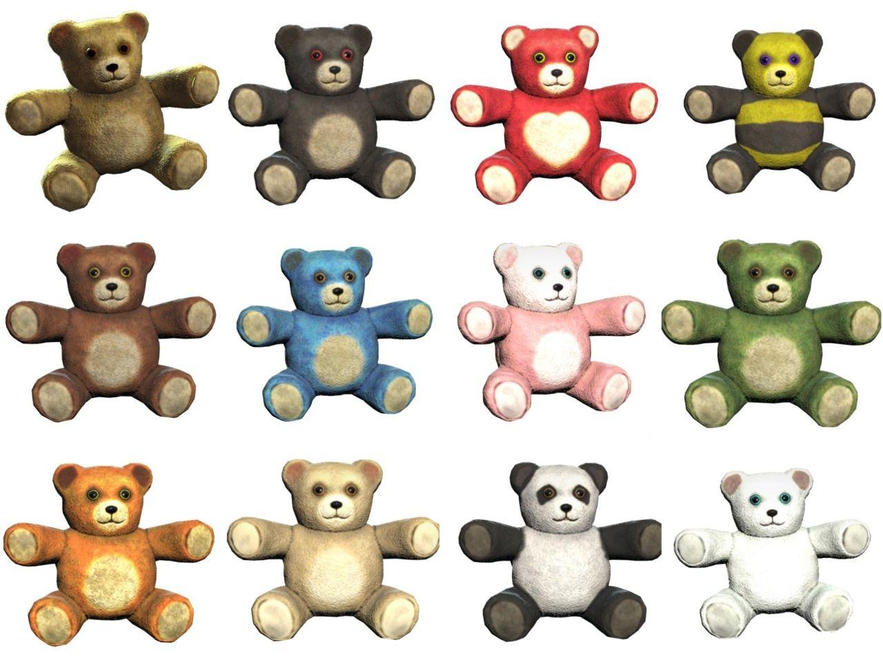 2019 的 Here are the variants of teddy bears in Fallout 76