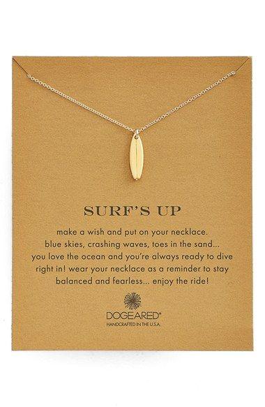 Photo of Dogeared 'Reminder – Surf's Up' Surfboard Pendant Necklace | Nordstrom