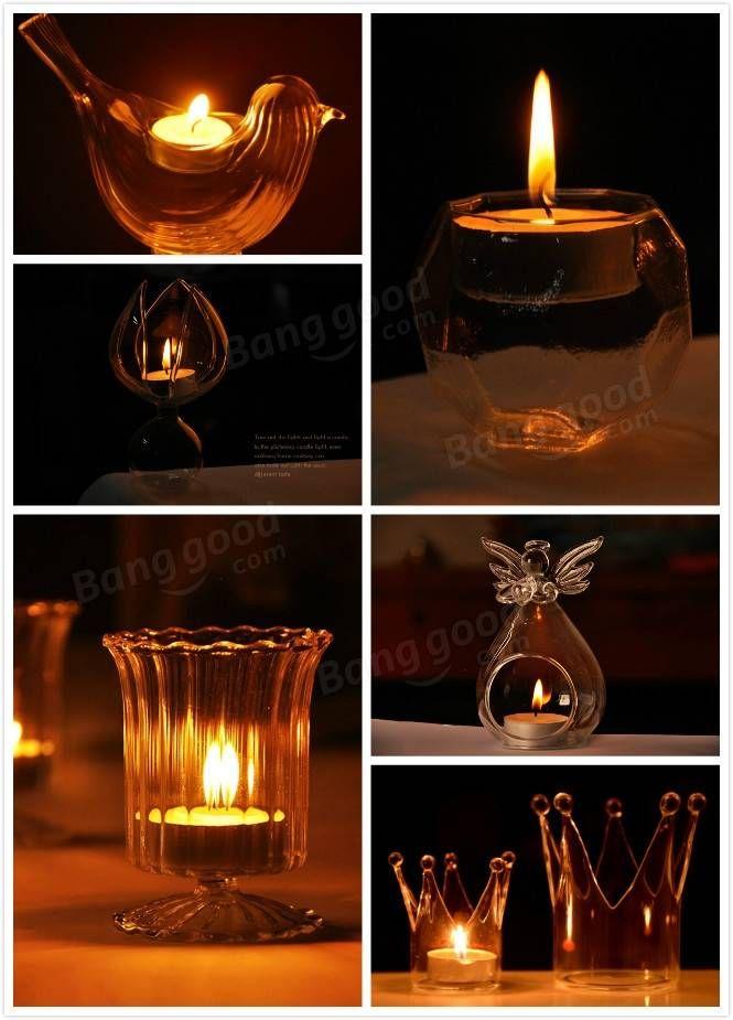 Candelabro de cristal de Rhombus Candelabro Vela Palo Candelabro de luz de Candelabro Decoración