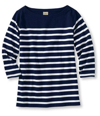 LLBean striped boatneck Pretty shirts, Nautical shirt