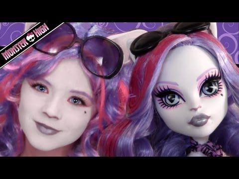 Catrine DeMew Monster High Doll Costume Makeup Tutorial for Cosplay or Halloween | KITTIESMAMA - YouTube