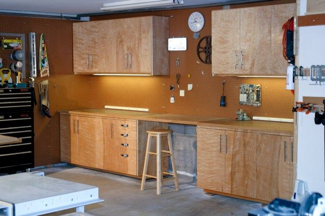 how to build plywood garage cabinets