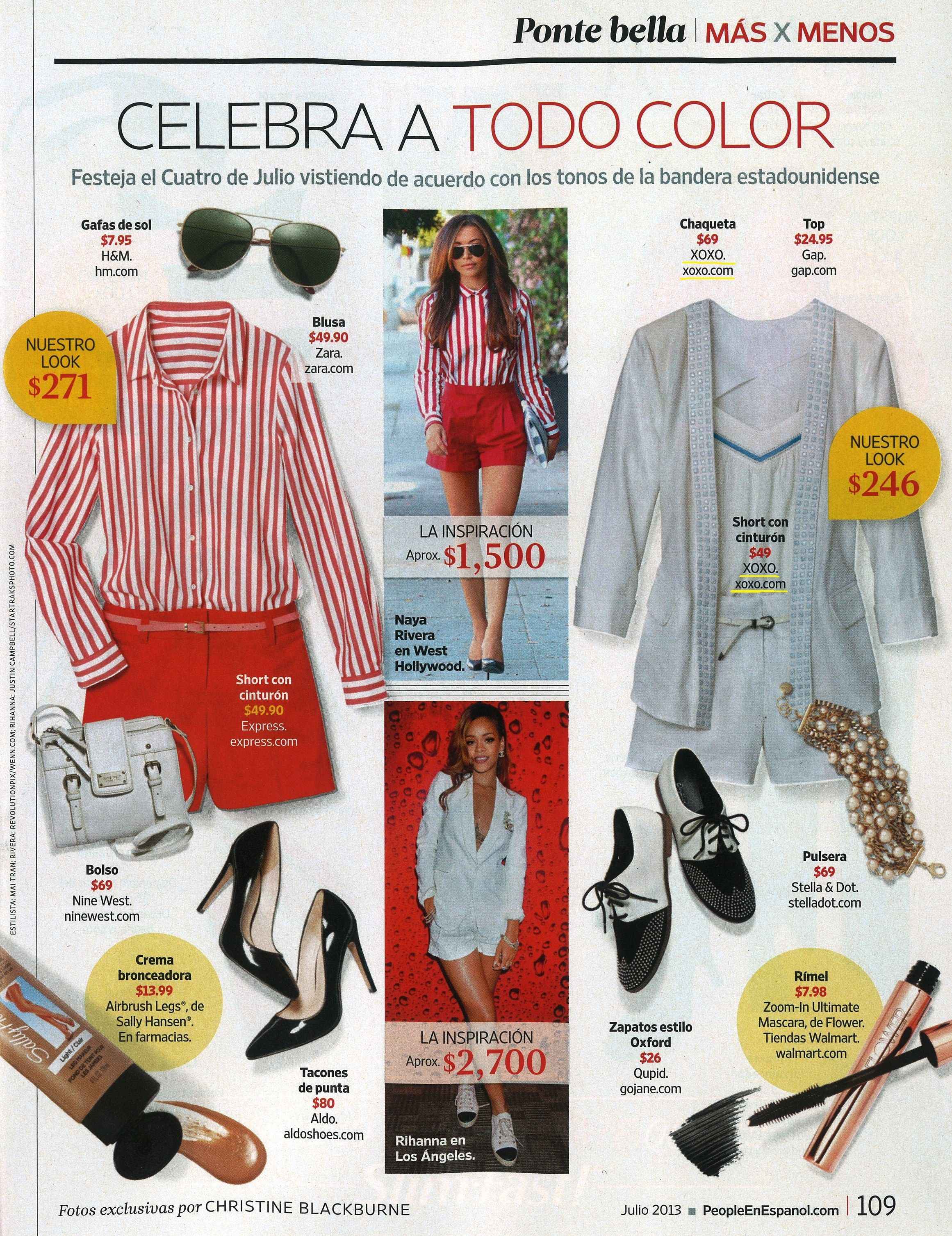 XOXO Studded Linen Blazer and belted Linen short featured in the July issue of @peopleenespanol magazine. Both available in stores and online at Macy's.