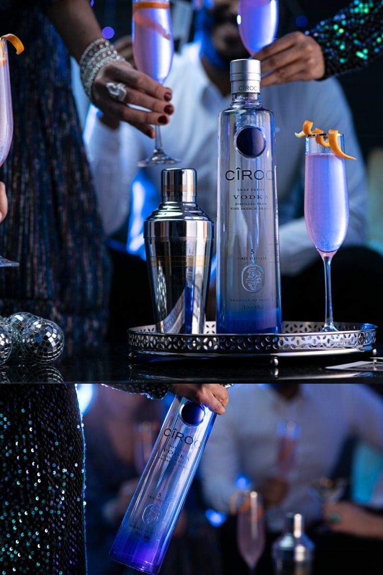 Celebrating New Year's Eve with Cîroc's Snap Frost Vodka