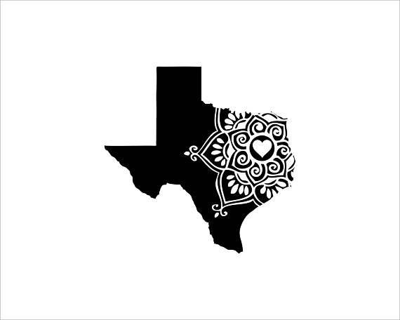 Texas mandala vinyl decal window decal car decal laptop