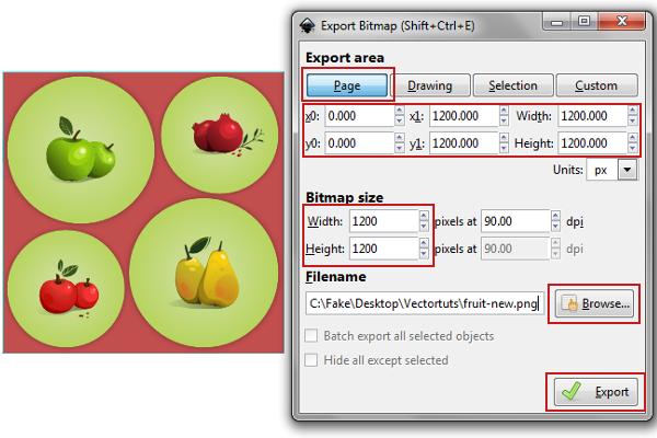 Quick Tip How To Export Your Artwork In Inkscape Artwork Export Tutorial