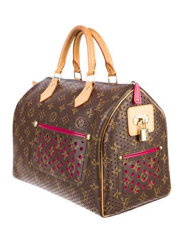 Monogram canvas Louis Vuitton travel bag.