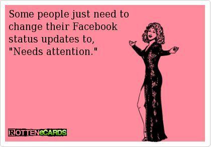 What Kind Of Facebook Friend Are You Half Crazy Mama Ecards Funny Facebook Status Update Facebook Humor