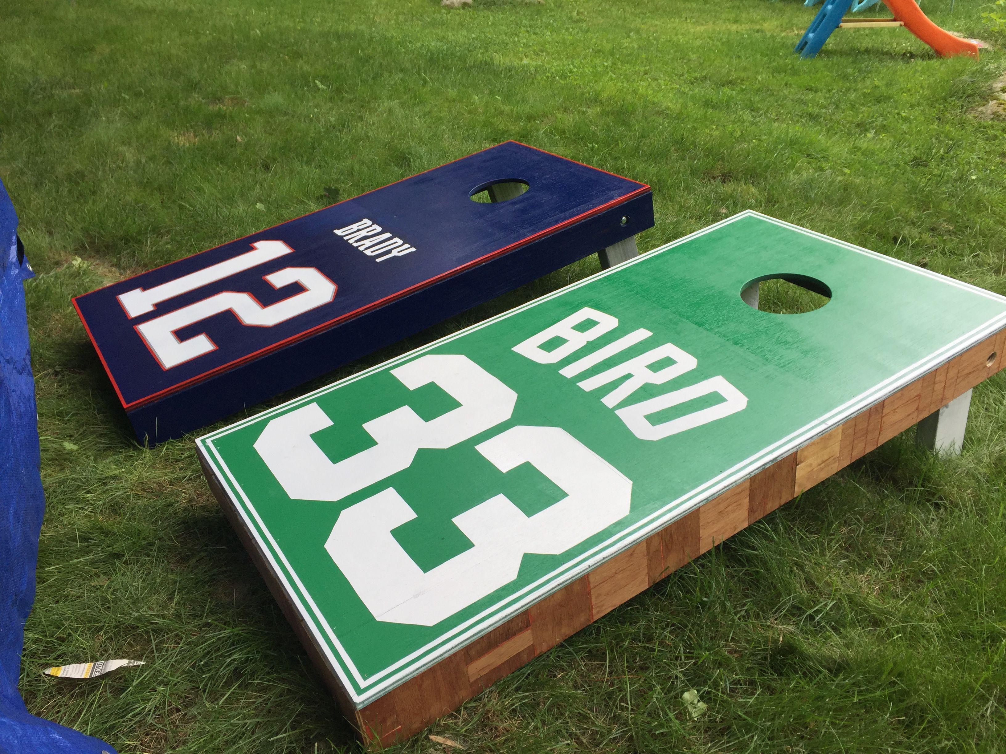Cornhole Boards Celtics With Parquet Floor Trim Floor Trim Parquet Flooring Cornhole Boards