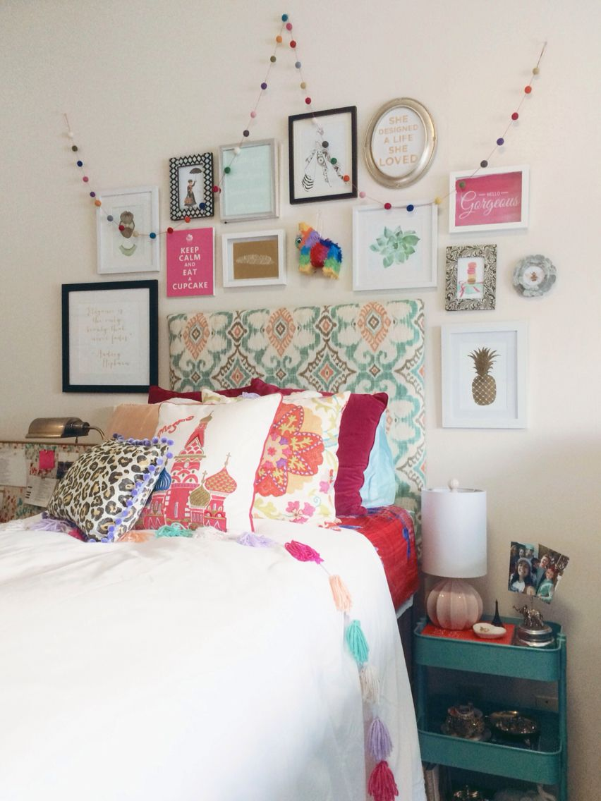 My boho chic Anthropologie inspired dorm room at SCAD   Bedroom ...