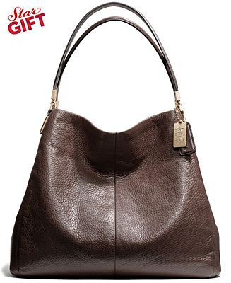 fb95f9ffb6 COACH MADISON SMALL PHOEBE SHOULDER BAG IN LEATHER - COACH - Handbags    Accessories - Macy s