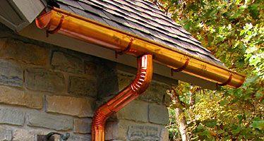 Copper Gutters Gutters Downspout Rain Gutters